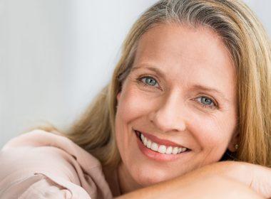 older woman happy anti aging