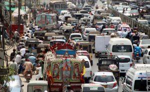 traffic karachi