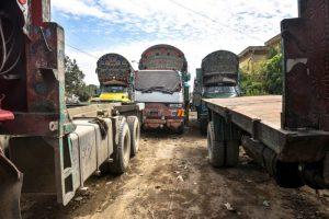 Quaid e Azam Truck Stand.