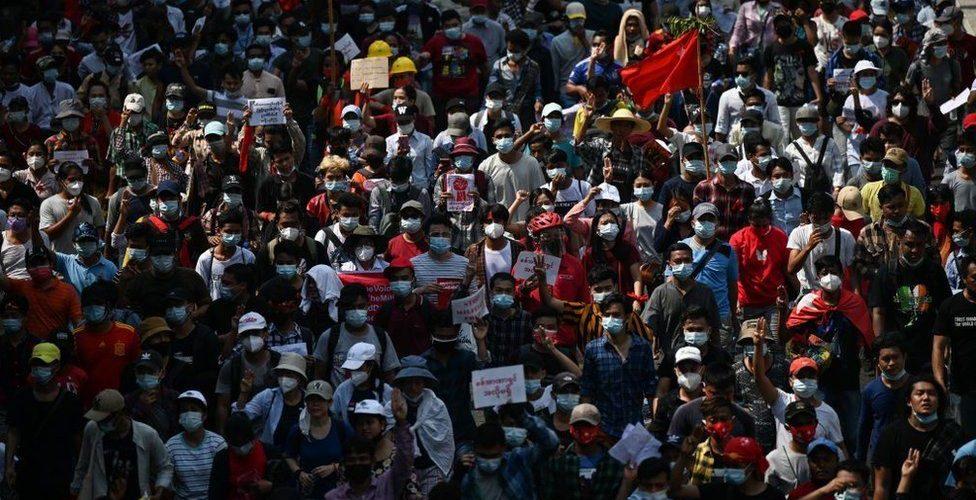 Myanmar protet